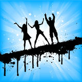 Grunge party people Royalty Free Stock Photos