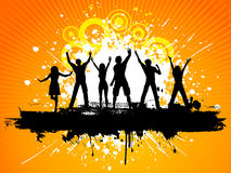 Grunge party people Royalty Free Stock Photo