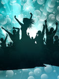 Grunge party people background Royalty Free Stock Photos
