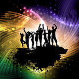 Grunge party people background Royalty Free Stock Photo
