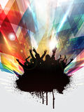 Grunge party people. Grunge style background with silhouette of a party crowd vector illustration