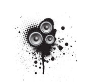 Grunge Party Speaker Stock Photography