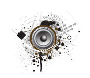 Grunge Party Speaker. With white background Royalty Free Stock Images