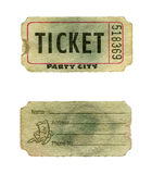 Grunge party ticket Royalty Free Stock Images