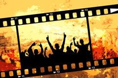 Grunge Partyfeld Stockbild