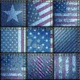 Grunge patchwork z usa flaga ilustracja wektor