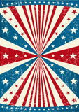 Grunge patriotic poster Stock Images