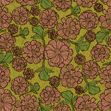 Grunge pattern with flowers. Vector seamless floral grunge pattern with flowers Stock Image