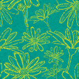 Grunge pattern with flowers - camomiles. Vector seamless floral grunge pattern with flowers - chamomiles Stock Photography