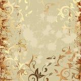 Grunge pattern gold Stock Photos