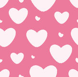 Grunge Pattern With Hearts Royalty Free Stock Photo