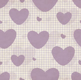 Grunge Pattern With Hearts Stock Image