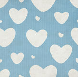 Grunge Pattern With Hearts Stock Images