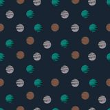 Grunge pattern with polka dot . Vector illustration Stock Images