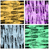 Grunge pattern shabby, black with beige, pink, green, orange Royalty Free Stock Photography