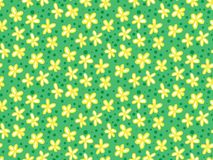 Grunge pattern with small flowers and leafs. Seamless vector grunge pattern with stylized small flowers and leafs. Texture for web, print, wallpaper, home decor Royalty Free Stock Images