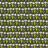 Grunge pattern with small hand drawn flowers. Stock Photo