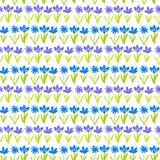 Grunge pattern with small hand drawn flowers. Stock Photography