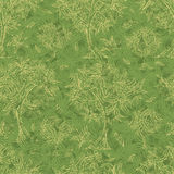 Grunge pattern with trees and leafs Stock Photos