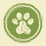 Grunge paw print Stock Photo