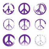 Grunge Peace Signs Royalty Free Stock Photos