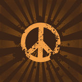 Grunge peace symbol Stock Images