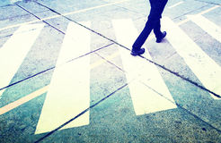 Grunge pedestrian street crossing Royalty Free Stock Photo