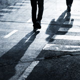 Grunge pedestrians road crossing Royalty Free Stock Photos