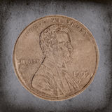 Grunge Penny Macro Royalty Free Stock Images