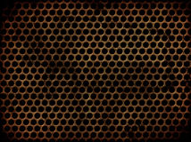 Grunge perforated metal Stock Image