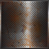 Grunge performated metal background. Perforated metal background with a grunge rusty texture Royalty Free Stock Photography