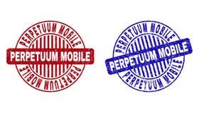 Grunge perpetuum mobile Round Textured Watermarks ilustracji