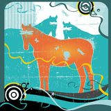 Grunge Pferde vektor abbildung