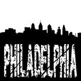 Grunge Philadelphia with skyline Stock Photography