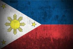 grunge philippines флага Стоковые Фото