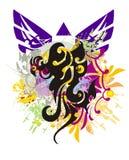 Grunge Phoenix symbol Stock Photo