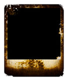 Grunge photo. A isolated grunge burned photo with scratched edge Royalty Free Stock Image
