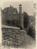 Grunge photo of Boldt's Castle stock image