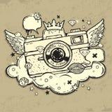 Grunge photo camera. Illustration of grunge photo camera Royalty Free Stock Photography