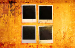 Grunge photo frames stock photography