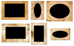 Grunge photo frames. Very old photo frames with empty place for photos stock photos