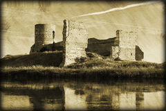 Grunge photo of old castle ruins Royalty Free Stock Photos
