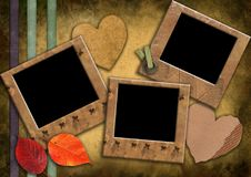 Grunge photoframeworks in a retro style. Royalty Free Stock Images