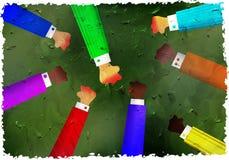 grunge pięści Obraz Royalty Free