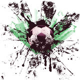 Grunge piłka nożna Obrazy Royalty Free