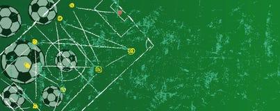 Grunge piłka nożna o futbolowy projekta szablon, bezpłatnej kopii przestrzeń royalty ilustracja