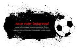 Grunge Piłki nożnej Sztandar Zdjęcia Royalty Free