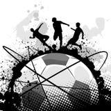 grunge piłki nożnej wektor Obrazy Royalty Free