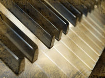 Grunge piano Stock Images