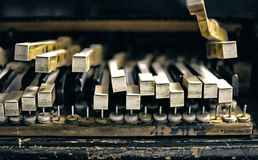 Grunge piano keyboard background Stock Image